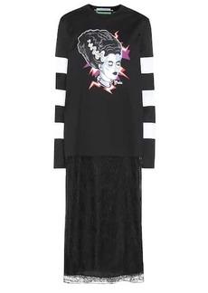 Prada Printed cotton T-shirt dress