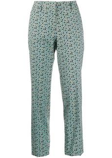 Prada printed straight-leg trousers