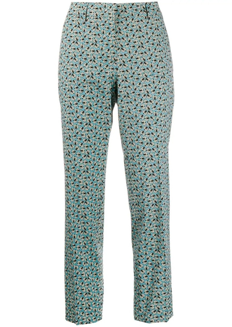 Prada printed straight-leg trousers