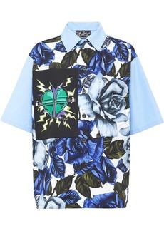 Prada printed poplin blouse