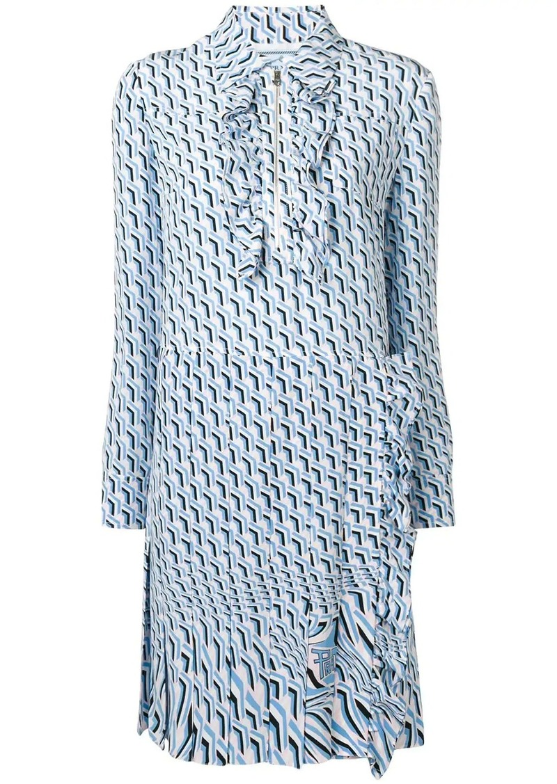 Prada printed shift dress