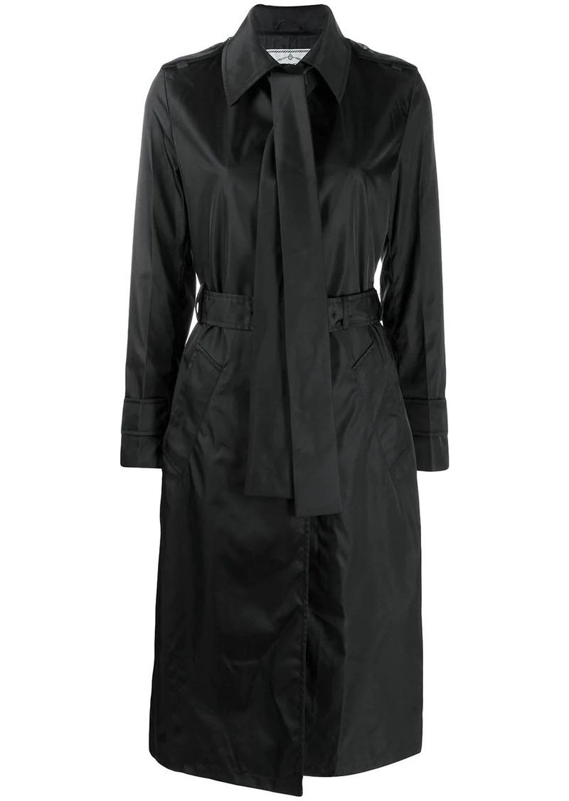 Prada pussy-bow detail trench coat