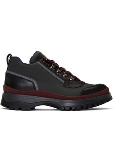 Prada Red & Grey Hybrid Hiking Boots