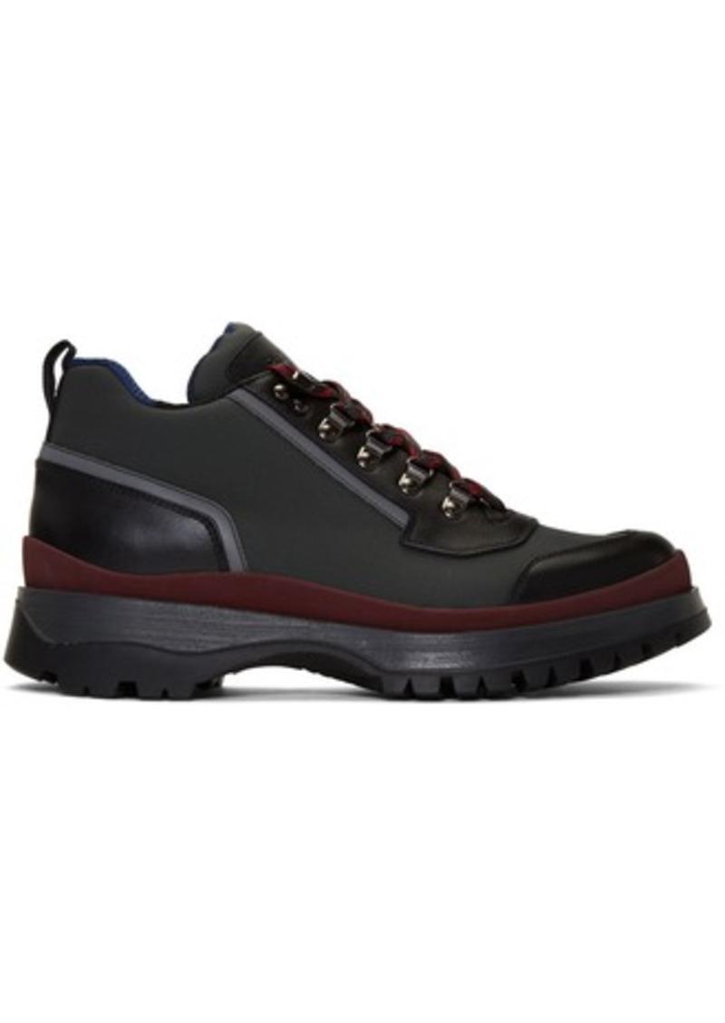 Prada Red & Grey Hybrid Hiking Boots