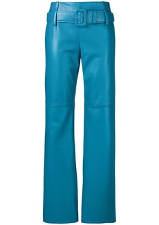 Prada regular fit leather trousers