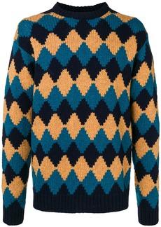 Prada rhomb-design loose sweater