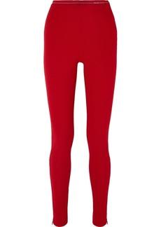 Prada Ribbed-jersey Leggings