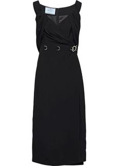 Prada ring detail sheath dress