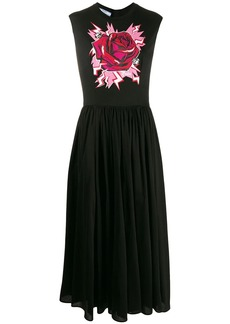 Prada rose print maxi dress