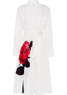 Prada rose print shirt dress