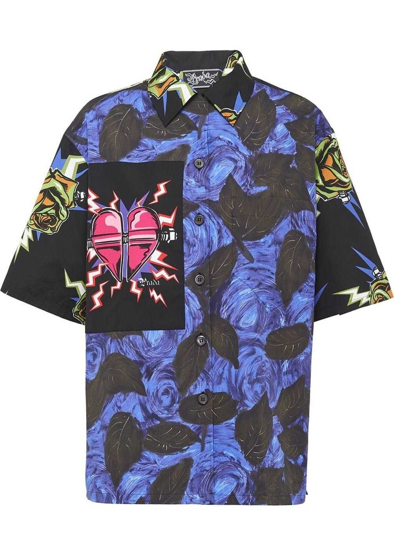 Prada rose printed shirt