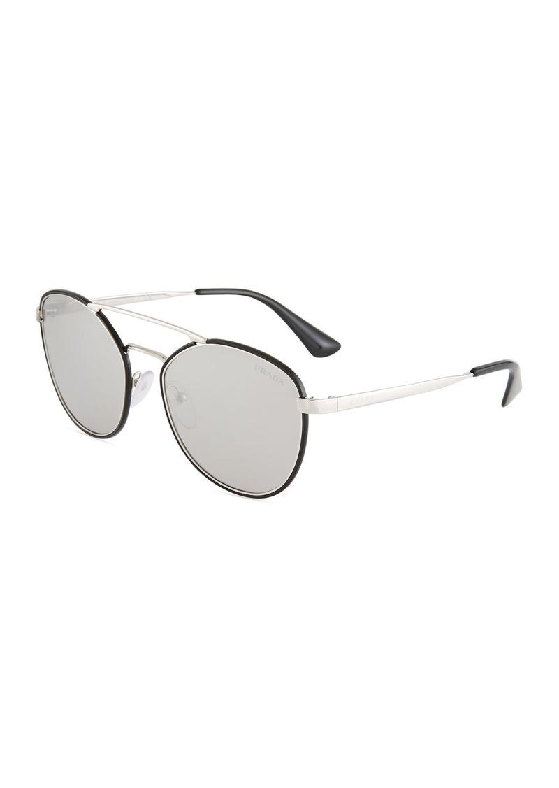 1d4e3c9b8 uk prada round metal sunglasses bbea3 c3a54