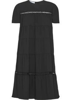 Prada round neck sablé dress