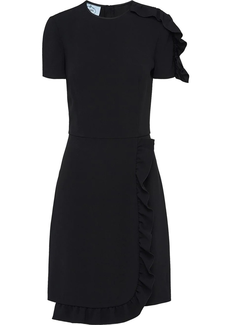 Prada ruched detail mini dress