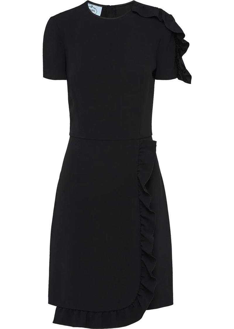 Prada ruched detail mini dress
