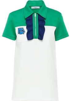 Prada ruched detail polo shirt
