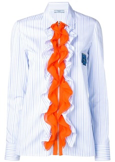 Prada ruffle-trimmed shirt