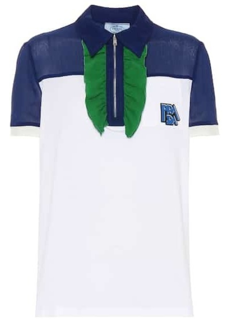 Prada Ruffled polo shirt