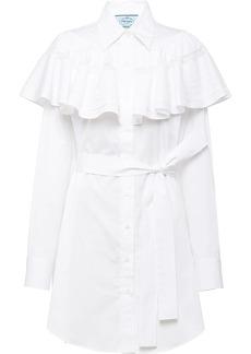 Prada ruffled shirt dress