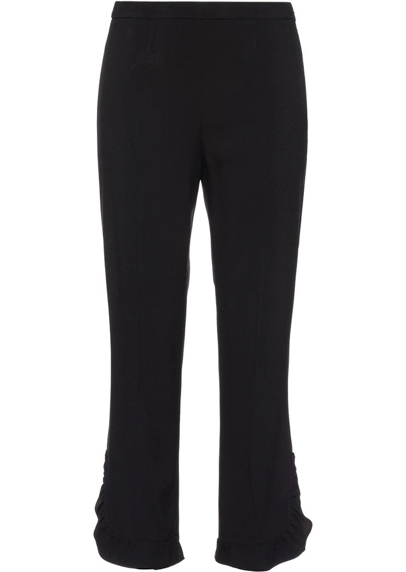 Prada Sablé trousers with ruches