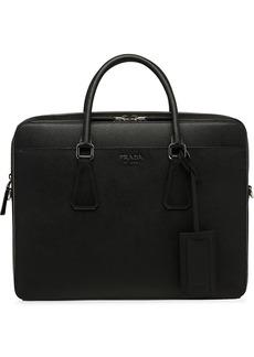 Prada lettering logo briefcase