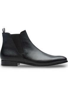 Prada Saffiano leather Chelsea boots