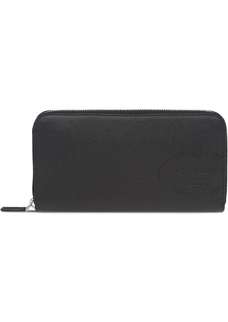 Prada Saffiano leather logo wallet