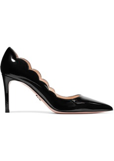 Prada Scalloped Patent-leather Pumps