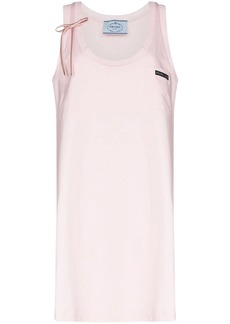 Prada scoop neck sleeveless dress