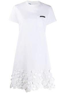 Prada sequin embellished T-shirt dress