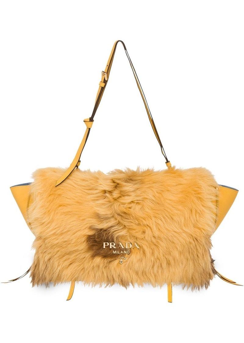 Prada shearling detail bag