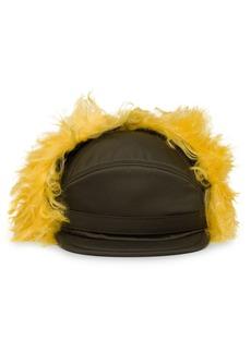 Prada shearling lined baseball cap