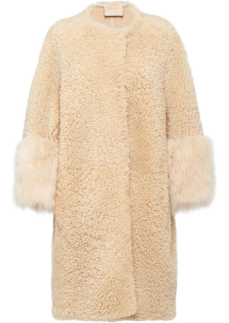 Prada shearling oversized coat