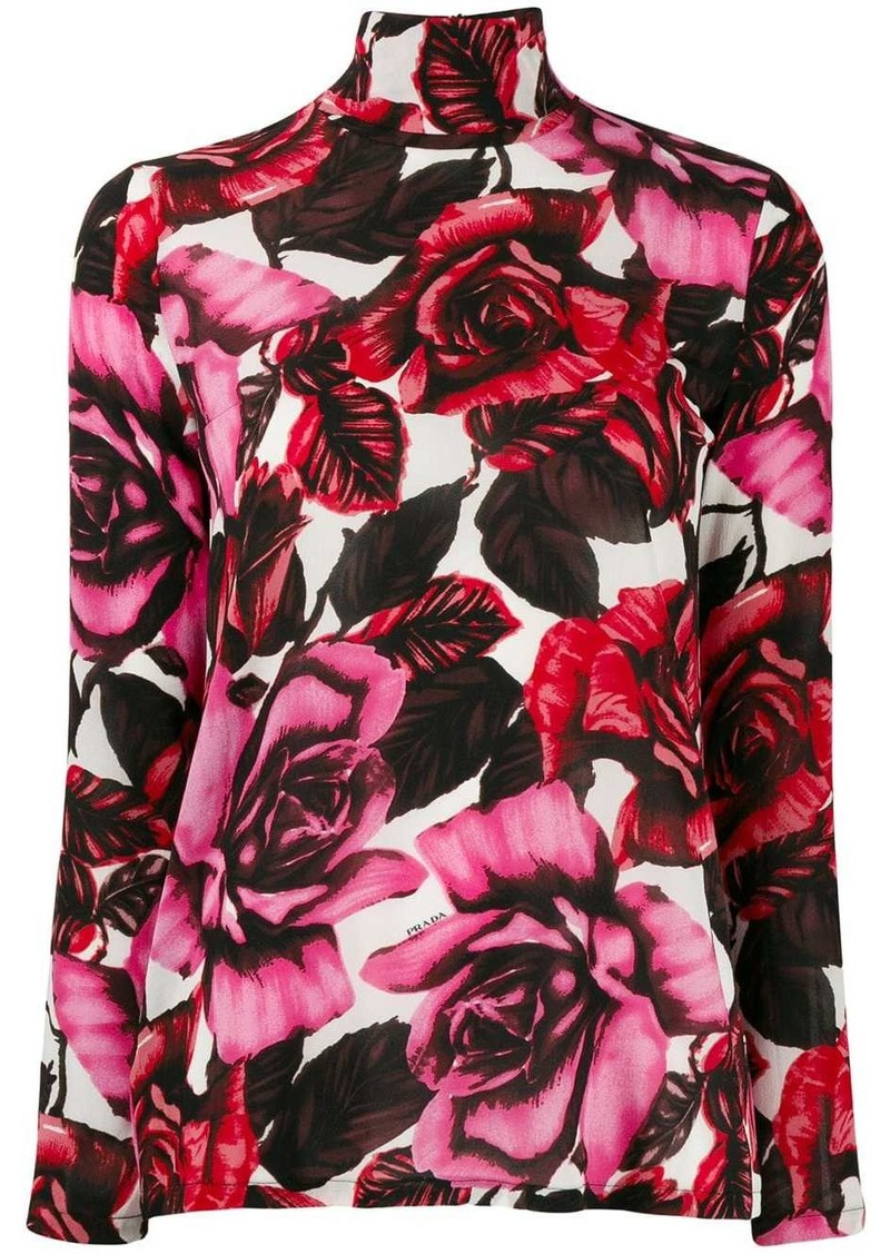 Prada sheer roses top