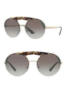 Prada 37mm Round Sunglasses