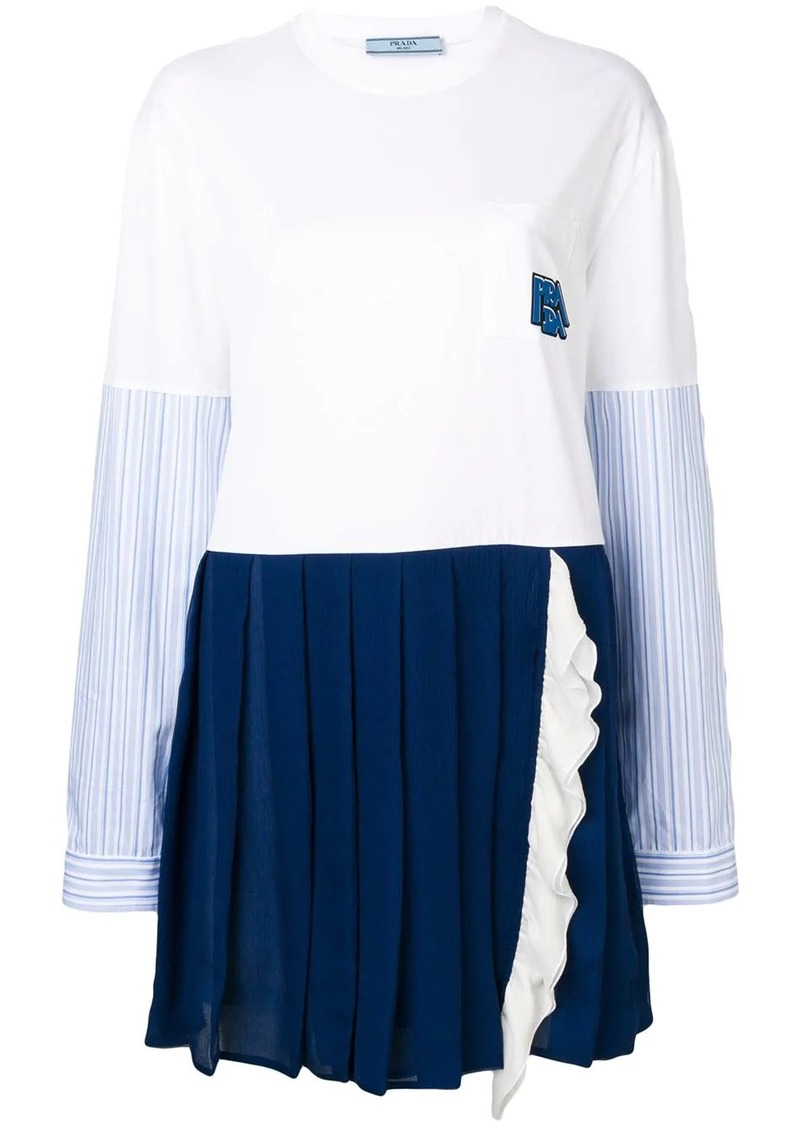 Prada shirt sleeve panelled dress