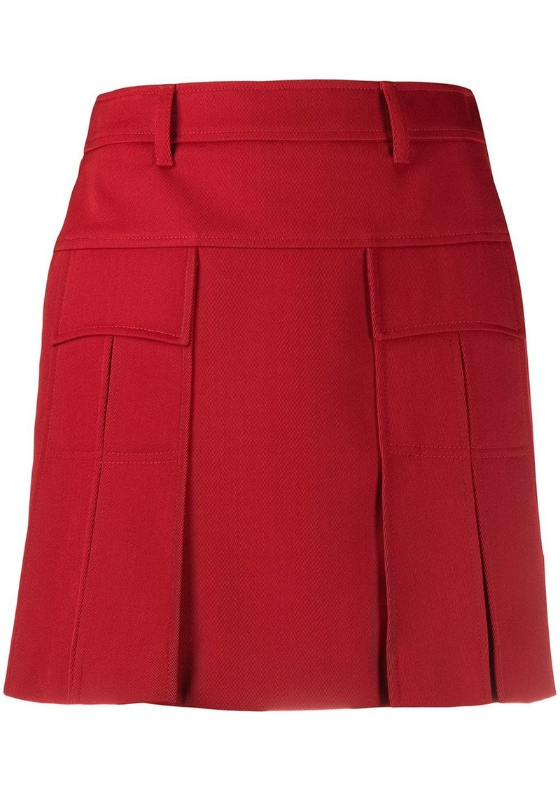 Prada short pleated mini skirt