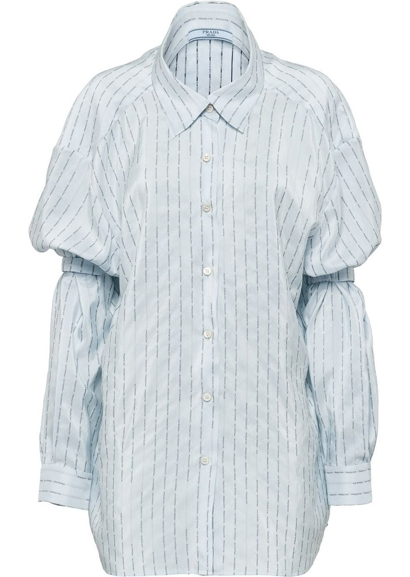 Prada shoulder straps pongé shirt