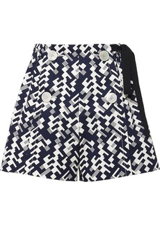 Prada side-tie geometric shorts