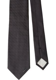 Prada silk geometric tie