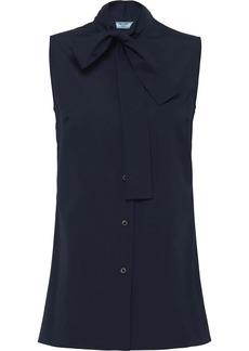 Prada sleeveless button-up shirt