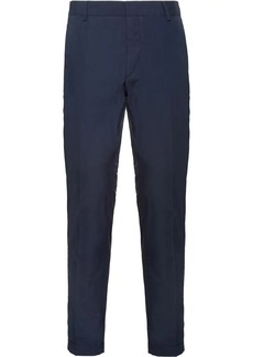 Prada Slim-fit washed cotton trousers