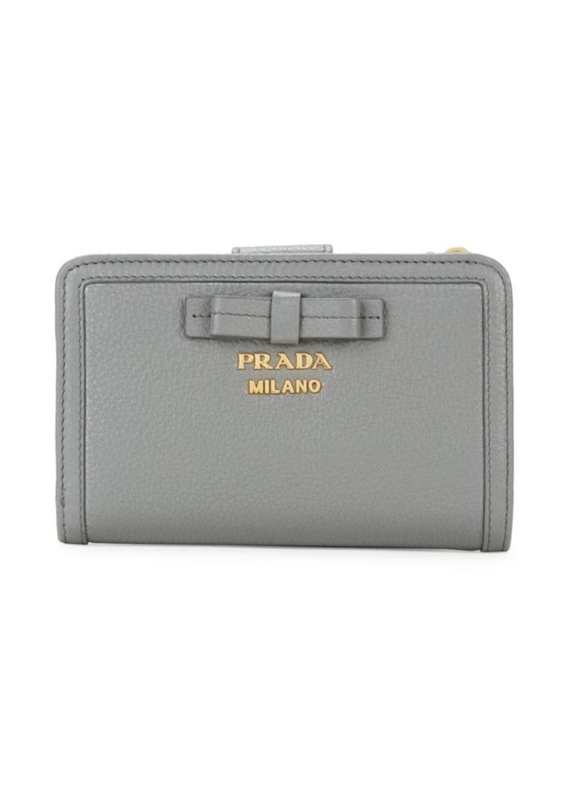 Prada Small Bow Leather Wallet