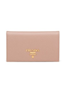 Prada small logo plaque wallet