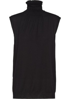 Prada smocked-collar knitted vest