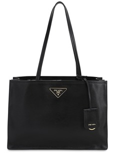 Prada Smooth Leather Tote Bag