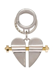 Prada split heart keyring