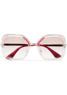 Prada Square-frame Acetate And Silver-tone Sunglasses