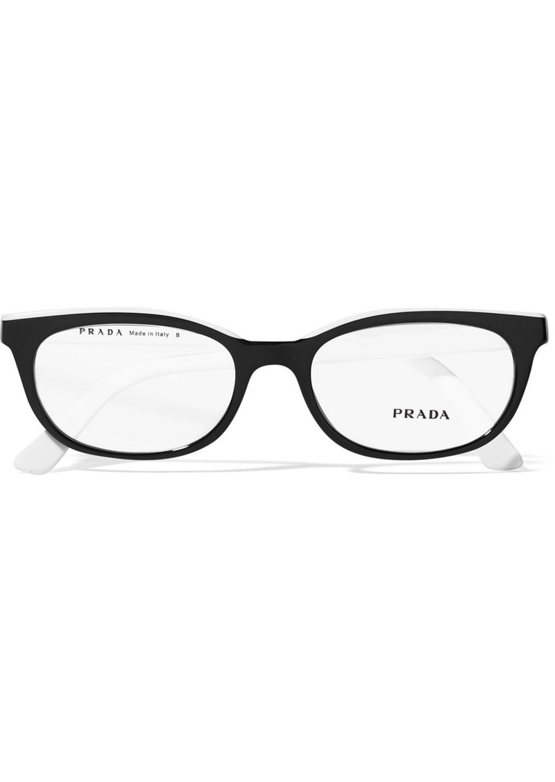 Prada Square-frame Two-tone Acetate Optical Glasses