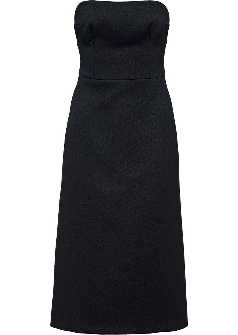 Prada strapless midi tailored dress